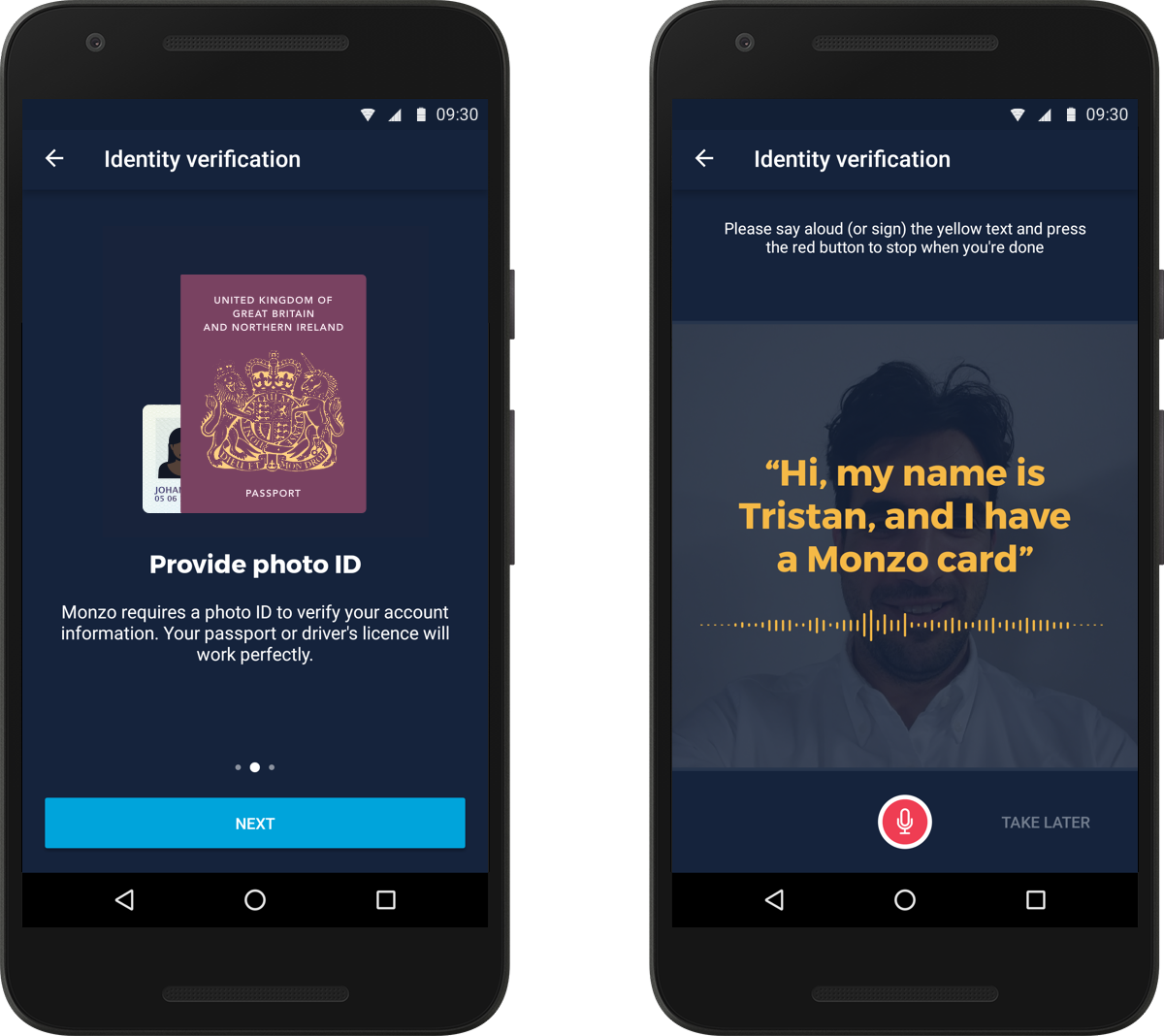 New Monzo Update: Identity Verification on Android