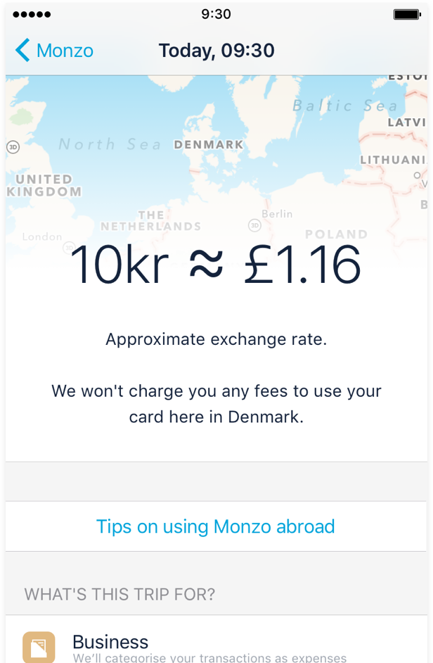 Traveling with Monzo