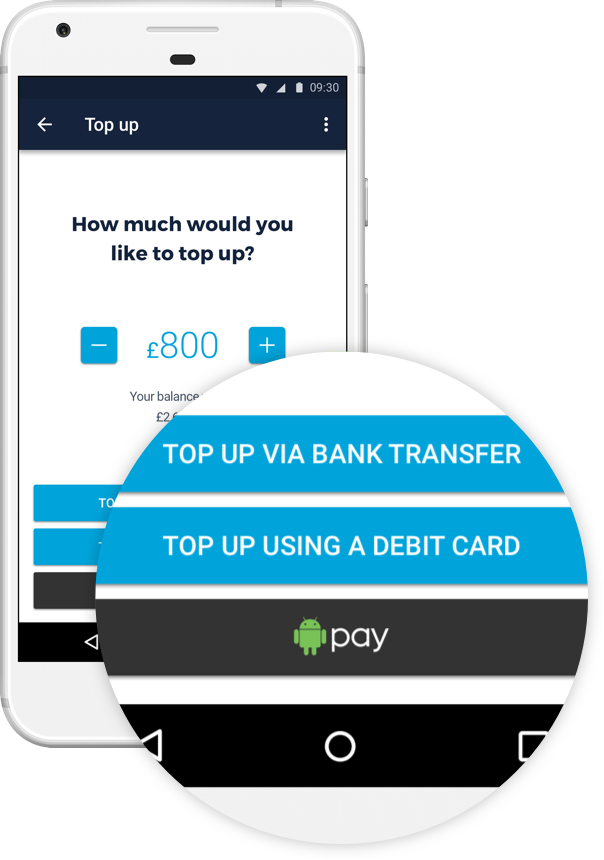 Launching Android Pay Top Ups!