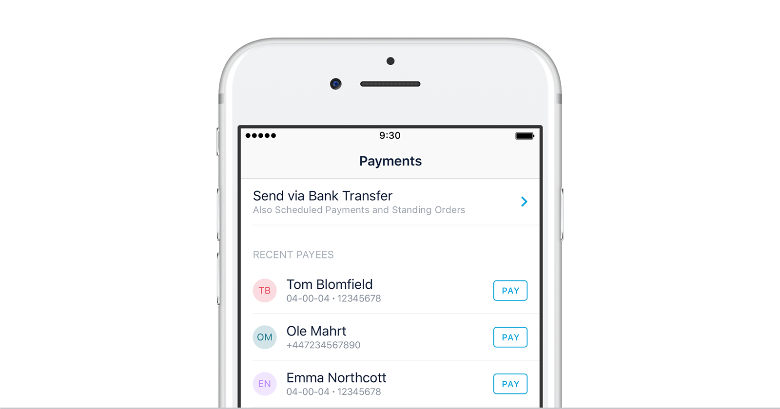 Making Monzo-to-Monzo payments in the Monzo app