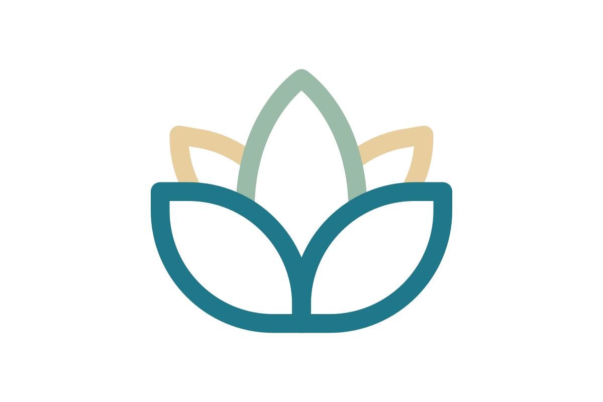 Illustration of a lotus flower.