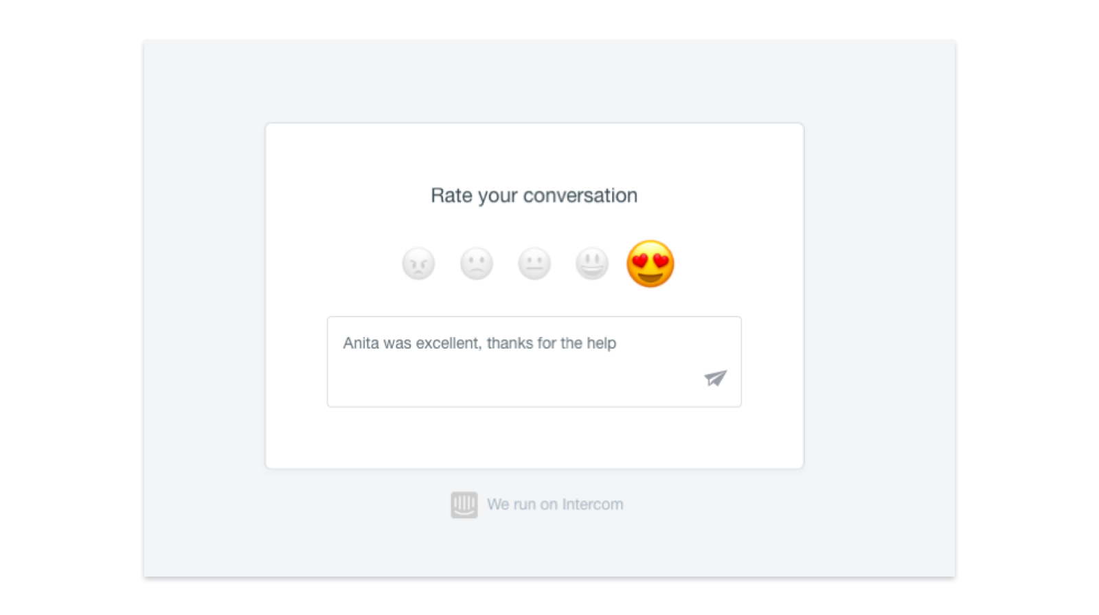 Screenshot of emoji scale
