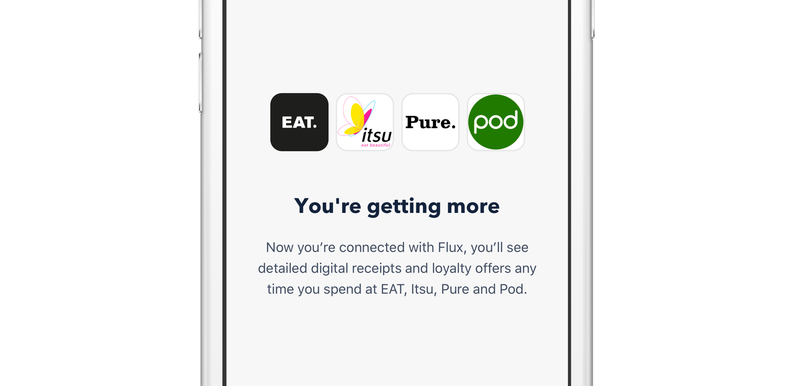 A selection of Flux retailers available through Monzo.