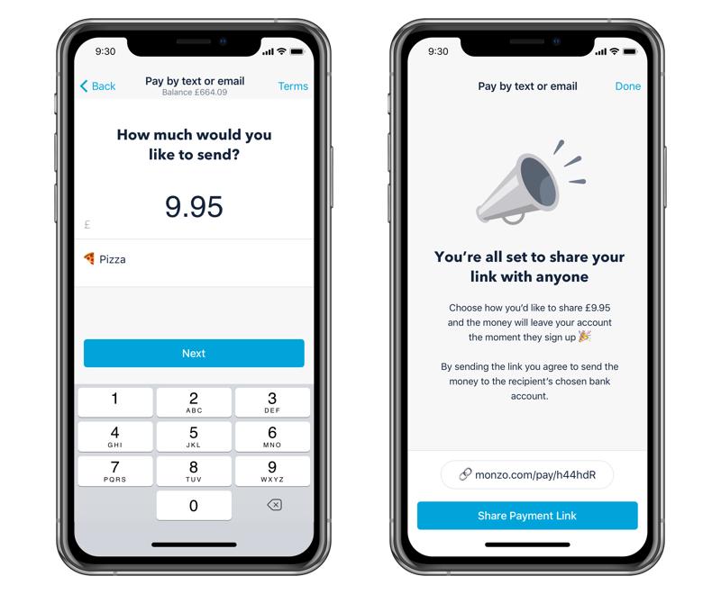 Sending someone a payment via a link.