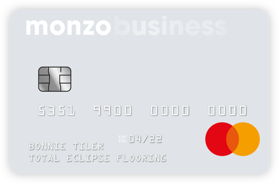 monzo business card
