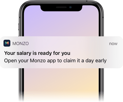 Image result for monzo get paid early
